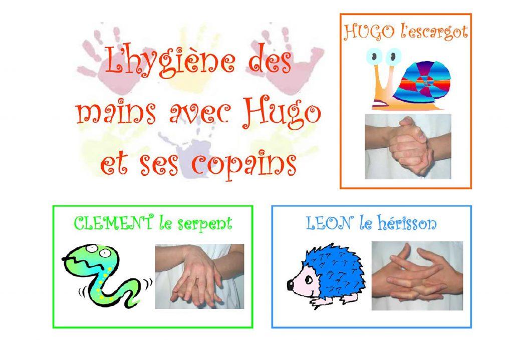 L'hygiène des mains avec Hugo et ses copains