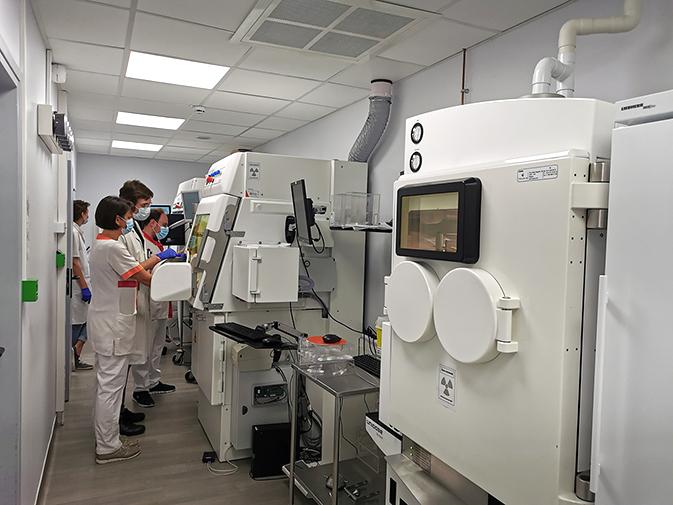 Laboratoire de préparation des radiopharmaceutiques