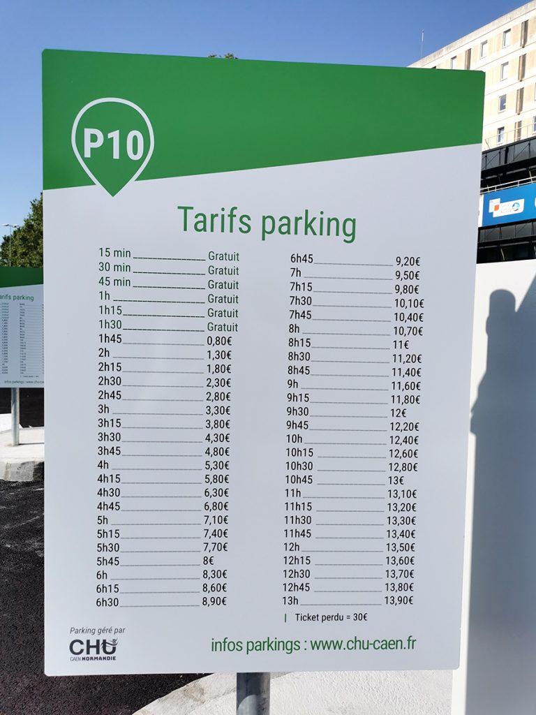 Tarif du parking visiteurs