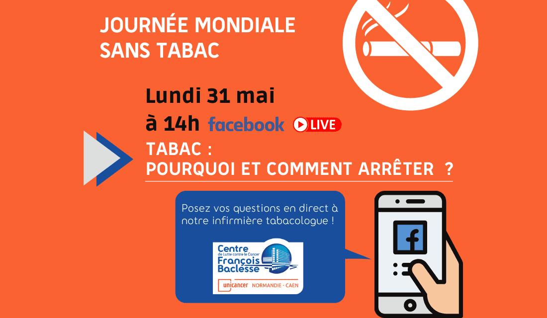 Journée mondiale sans tabac : Facebook Live